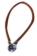 maganet one snap brown necklace