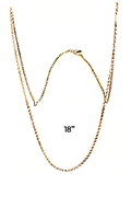 rhodium plated chain 18""