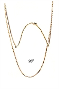 rhodium plated chain 28""