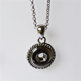 "mini snap necklace 18""chain 412"