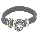 leather bracelet black color