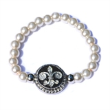 pearl one snap bracelet 8mm not including snap