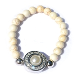 10mm pearl one snap bracelet not including snap