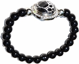 snap bracelet black pearl 8mm