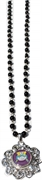 snap necklace black pearl 8mm