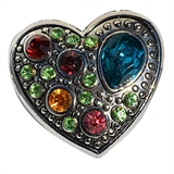 snap heart multi color large